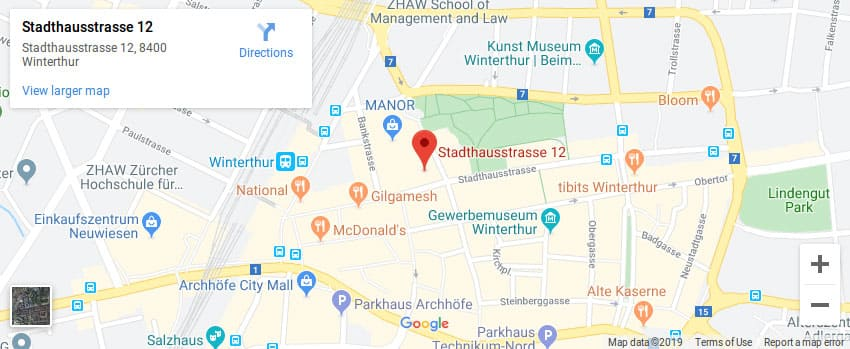 Google Map of Stadthausstrasse 12, 8400 Winterthur